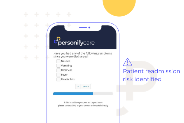 Get Early Visibility to Readmission Risks Patient App