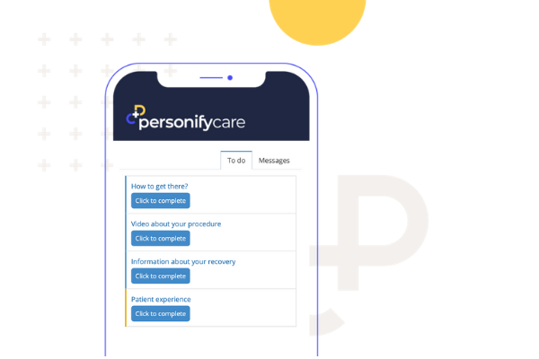 patient check list in Personify Care
